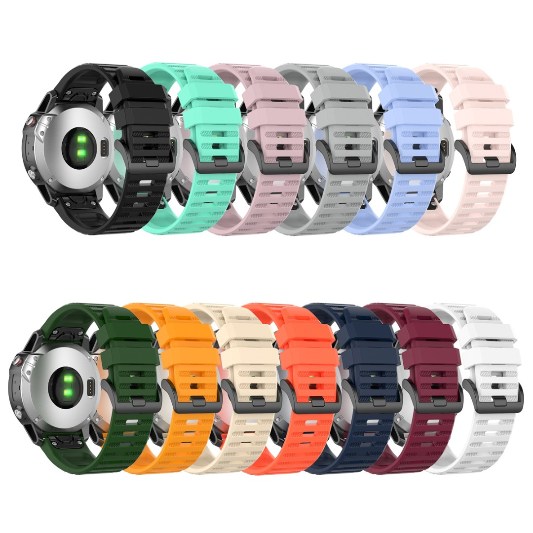 22MM Silicone Replacement Strap For Garmin Fenix 6/6 PRO/Fenix 5/5 Plus/approach s62 Watch Accessories Silicone Sport Wristbands