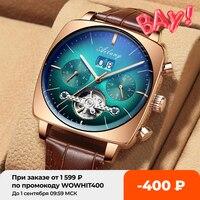 AILANG-reloj analógico de Esfera Grande para hombre, accesorio de pulsera resistente al agua con cronógrafo cuadrado, complemento masculino de marca famosa, 2021