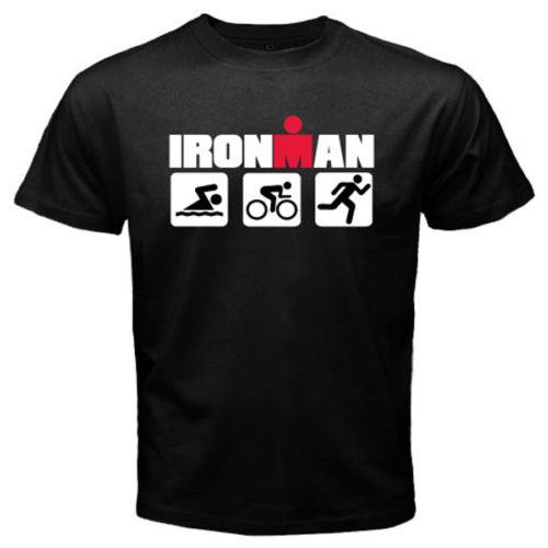 Ironman Triathlon Swim Bike Run Sports Symbol Men'S Black T-Shirtmen'S Fashion 2019 Summe Hip Pop Funny T-Shirt