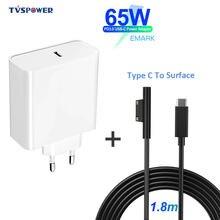 Pd usb type c зарядное устройство для microsoft surface pro