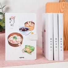 MIRUI Cuaderno creativo de tapa dura con comida, libro de mano con ilustración Página interior, diario, útiles de oficina para escuela y Estudiante