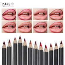IMAGIC lipliner pen Fashion Lasting Moisture Lipliner Waterproof Lip Liner Stick Pencil 12 Color with 1Pcs sharpener