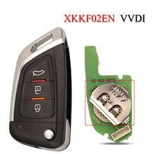 Универсальный дистанционный Автомобильный ключ Xhorse jingyuqin с 3 кнопками для VVDI Key Tool/VVDI2 XKKF02EN