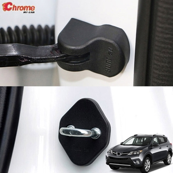 For Toyota RAV4 2013 2014 2015 2016 2017 2018 Door Lock Cover Arm Checker Stopper Buckle Case Guard Decoration Car Accessories image