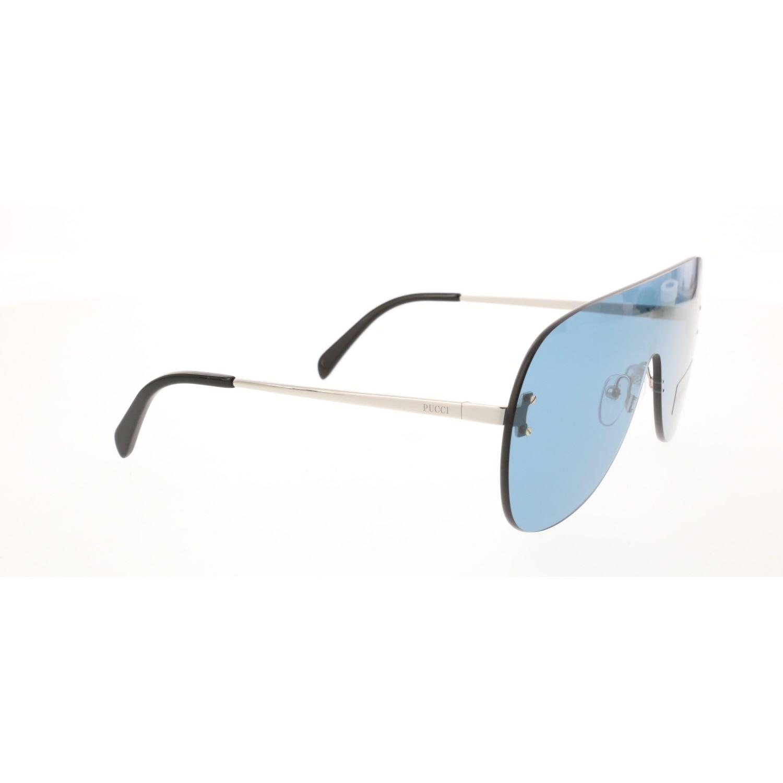 Women's sunglasses ep 0078 16v unibody metallic polycarbonate rectangular 143-13-135 emilio pucci