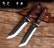 Voltron Wild high hardness outdoor straight knife, self-defense military knife, wild survival tactical saber
