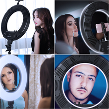 18 inch 55W 5500K Dimmable LED Ring Light, 180CM Light Stand, Carrying Bag for Camera,Smartphone,YouTube,Self-Portrait Shooting