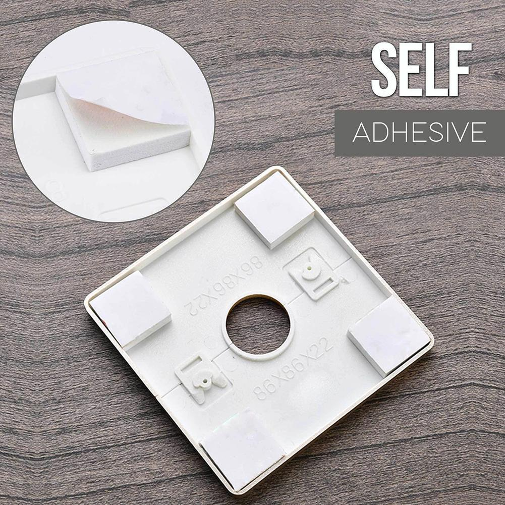 6 Types Plastic Wall Wire Hole Cover Air-conditioning Hardware Grommet Dust Cable Pipe Furniture Protector Decorative Cover H1J0