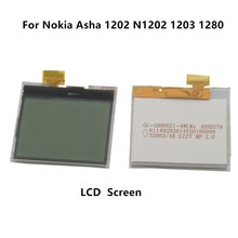 ESC 200 adet/grup Nokia Asha 1202 için N1202 1203 LCD ekran ekran paneli monitör Nokia Asha 1202 için N1202 1203 1280 LCD ekran