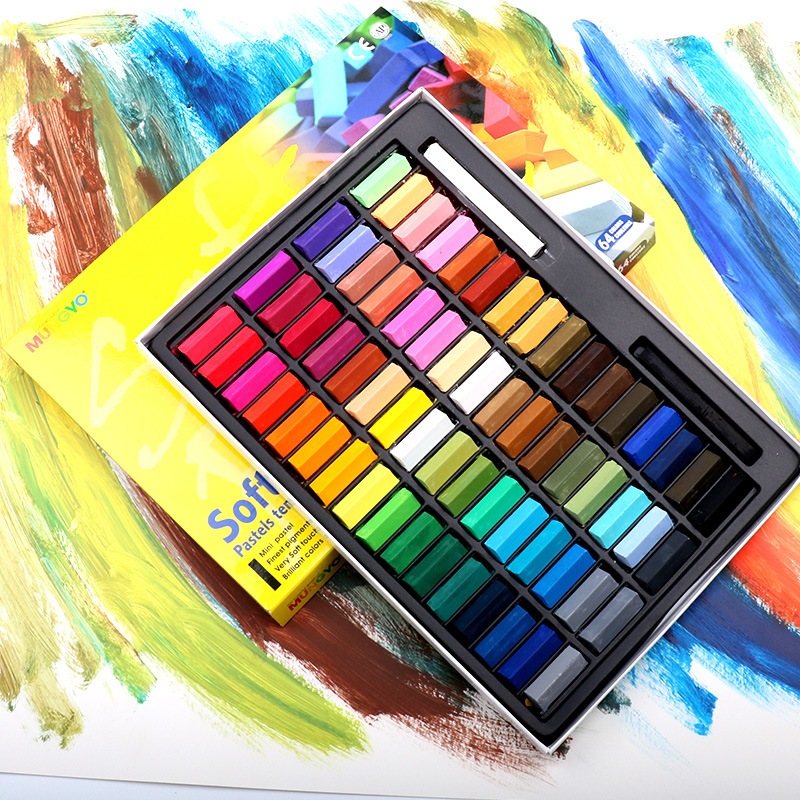 32/48/60 Colors Easy Use Drawing Line Stick Toner Portable Smooth Hair Dye Soft Short Pastel Painting Chalk Set