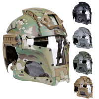 Military Airsoft Full Face Helmet Mask Safety Tactical Combat Helmet Adjustable Army Wargame CS Paintball Shooting Helmet Mask