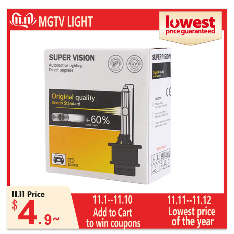 MGTV LIGHT <font><b>D1S</b></font> D2S D3S D4S HID Bulbs CBI HID Xenon Headlight Bulb D1 D2 D3 D4 D1R D2R D3R D4R Headlamp Light 4300K 6000K 8000K image
