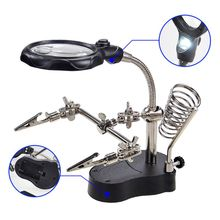 TE-801 Helping Hand with 4X Magnifying Glass Solder Holder Jewelry Repair Tools
