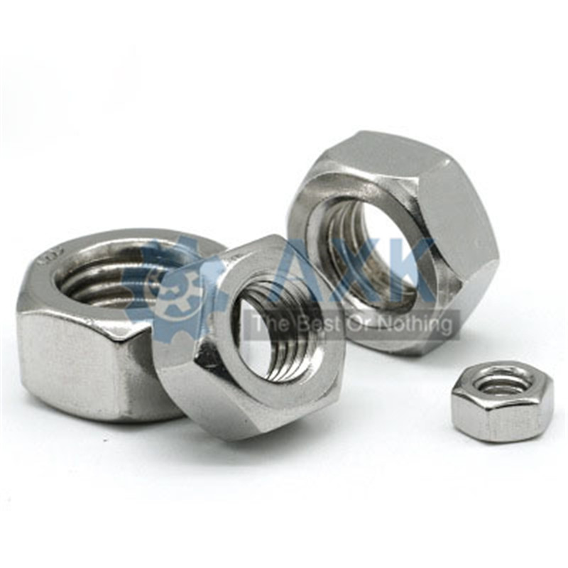 5Pcs 304 Stainless Steel US Standard American Form Hex Nut UNC Hexagon Nuts 1/2 1/4 3/4 3/8 5/16 5/8 7/16 4# 6# 8# 10# 12#