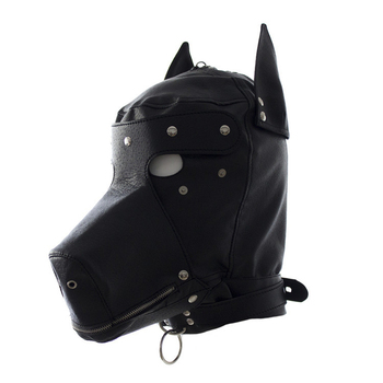 BDSM Leder Bondage Fetisch Haube für Erwachsene Hund Sklave Haube 1