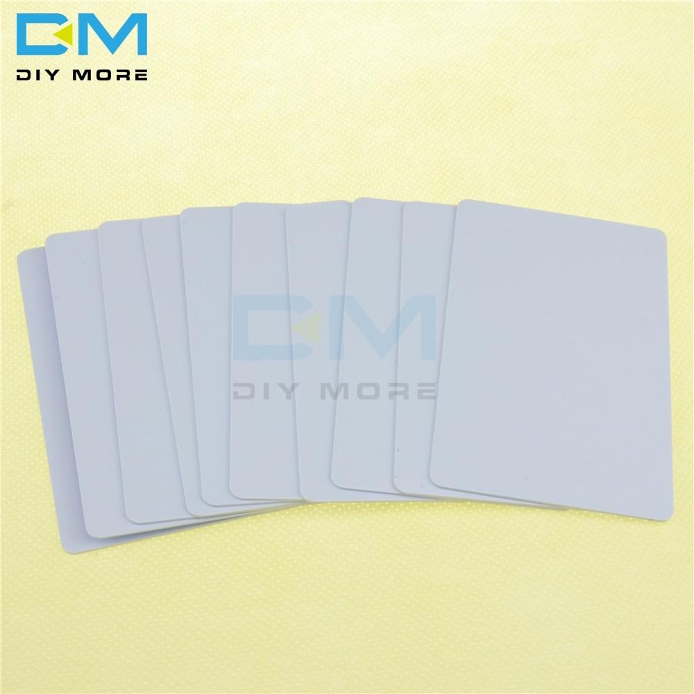 100PCS 13,56 MHz IC Karte NFC Smart Card Veränderbar Tags Für 1K S50 RFID ISO14443A Für Arduino PVC wasserdicht Karte