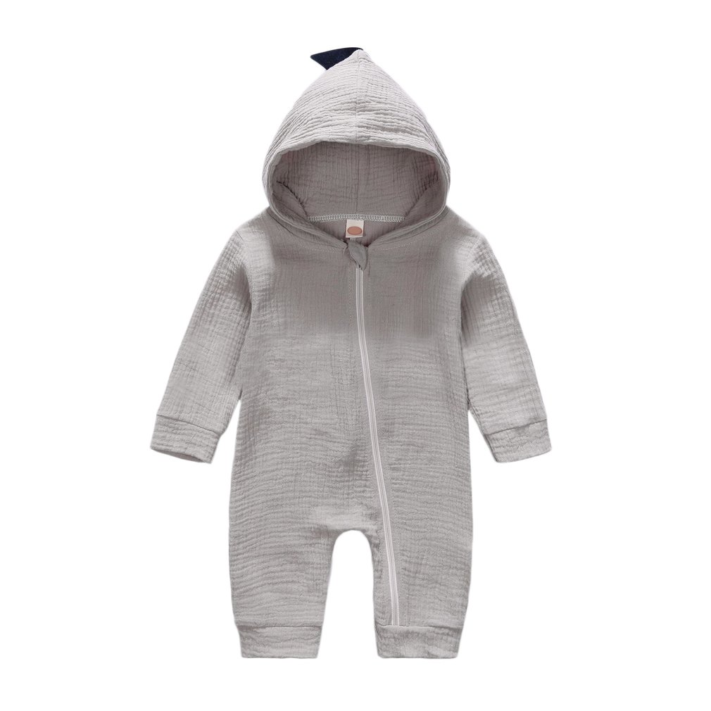 New Baby Rompers 0-24 Months Newborn Baby Boys Girls Jumpsuit Dinosaur Costume Romper Playsuit Baby Clothes Hooded Cute Clothing