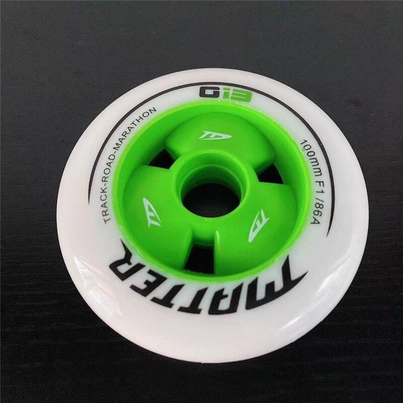 MATTER Gi3 patins de vitesse en ligne pneu G13 roues de patinage de vitesse 86A 90mm 100mm 110mm piste route Marathon course ruedas F1 roue de vitesse - 4