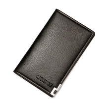 Card-Holder Case Men's Wholesale Women Portable New Business Pu for Metal