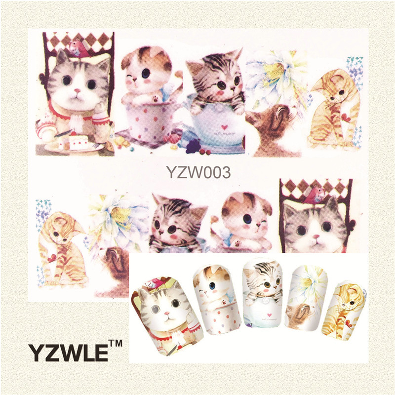 Yzw Nail Polish Flower Stickers Watermark All Patch Nail Ornament Wholesale AliExpress EBay Hot Selling YZW003