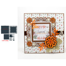Square Flower Shape Frame MY FAVOURITE Word Metal Cutting Dies Scrapbooking Album Paper DIY Cards Crafts Embossing New 2019