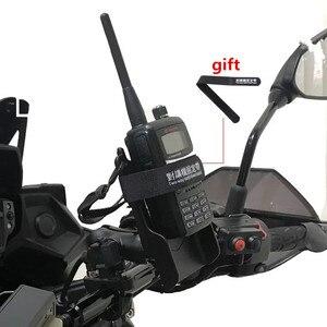 Image 2 - Radio Houder Met Riem Clip Met Diamant Plaat Compatibel Met 1 Inch Rubberen Bal Voor Auto Motorfiets Interphone