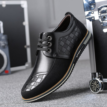 High Quality Big Size Casual Shoes Men Business Breathable Men Casual Shoes Hot Sale Fashion Brand Brown Casual Men Shoes