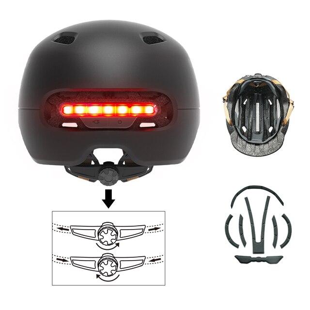 2 in1 bicicleta lâmpada de ciclismo luz da cauda inteligente adulto capacete da bicicleta do miúdo capacete mtb estrada scooter para xiaomi esporte urbano capacete 3