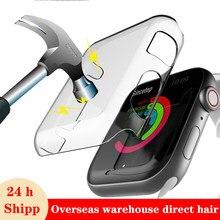 Screen protector fall für Apple uhr band 44mm 40mm correa band 42mm 38mm wasserdicht auto abdeckung für iwatch 6 SE 5 4 3