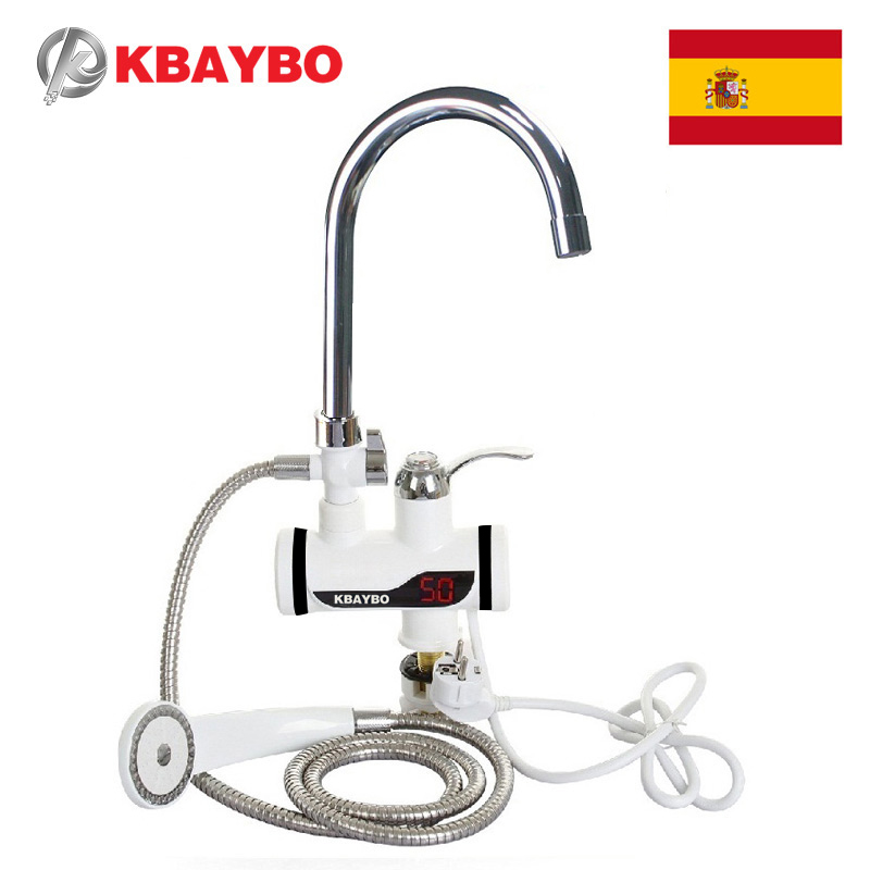 3000W Electric Instant Water Heater Tap Shower Hot Faucet Kitchen Water Heater