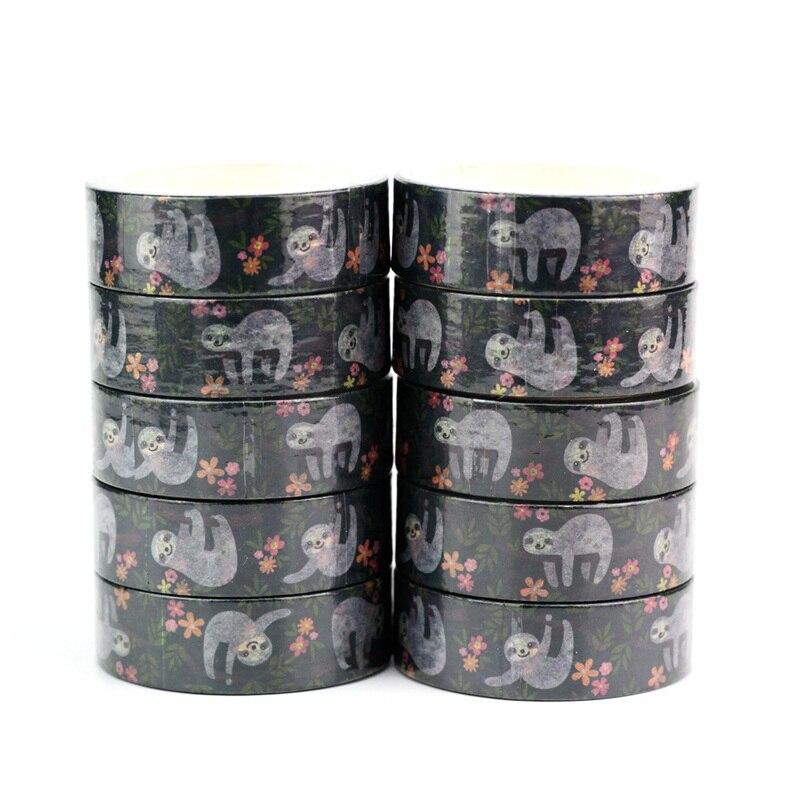 Decorative Sloth Animal Washi Tapes Japanese Paper Kawaii Scrapbooking Tools Masking Tape Christmas Photo Album Diy Stationery