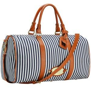 Image 2 - Modoker Große Schwarz Weiß Gestreiften Frauen Reisetasche Organizer Casual Outdoor Teenager Gepäck Tasche Seesack mit Zipper Paket