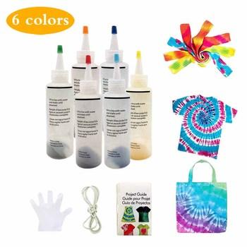 Farby do malowania na stałe farby do farbowania tkanin farby tekstylne na artykuły domowe farby tekstylne kolorowe zestawy do krawatowania muti-color barwniki tanie i dobre opinie fabric textile paint