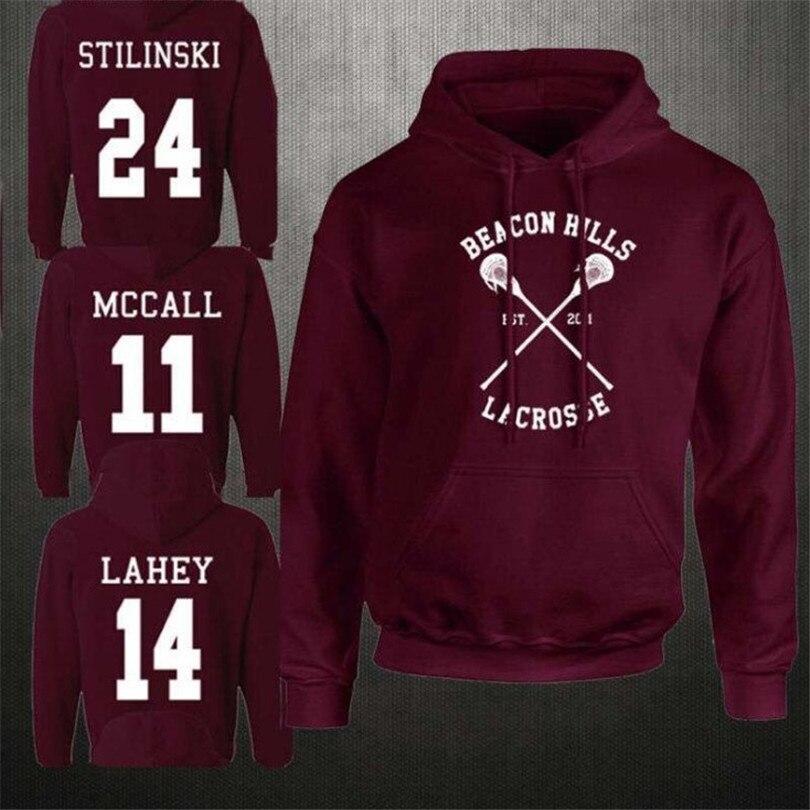 Teen Wolf Stiles Stilinski 24 Hoodies Sweatshirts Dunbar McCall Moletom Hoodie Sweatshirt Plus Size Harajuku Mens Jacket Clothes