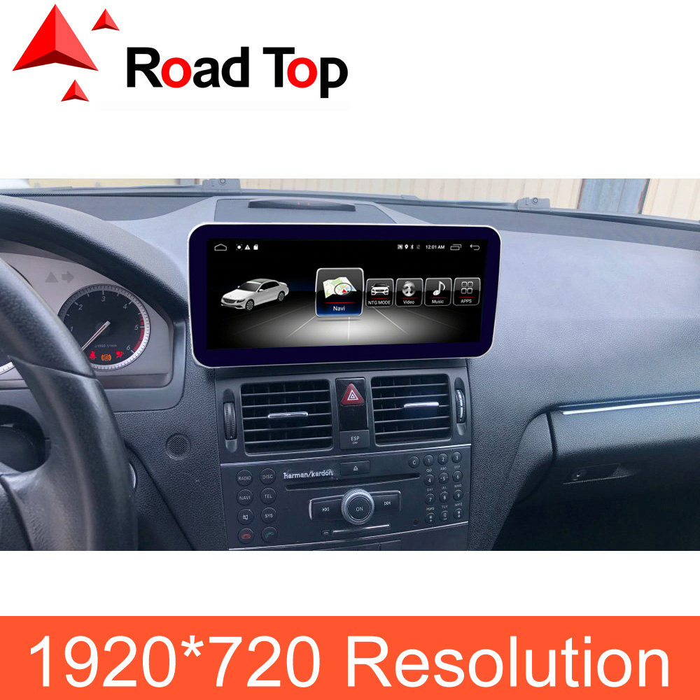 1920--720-Resolution Multimedia Gps Navigation Android-Screen Radio Bluetooth W204 Stereo