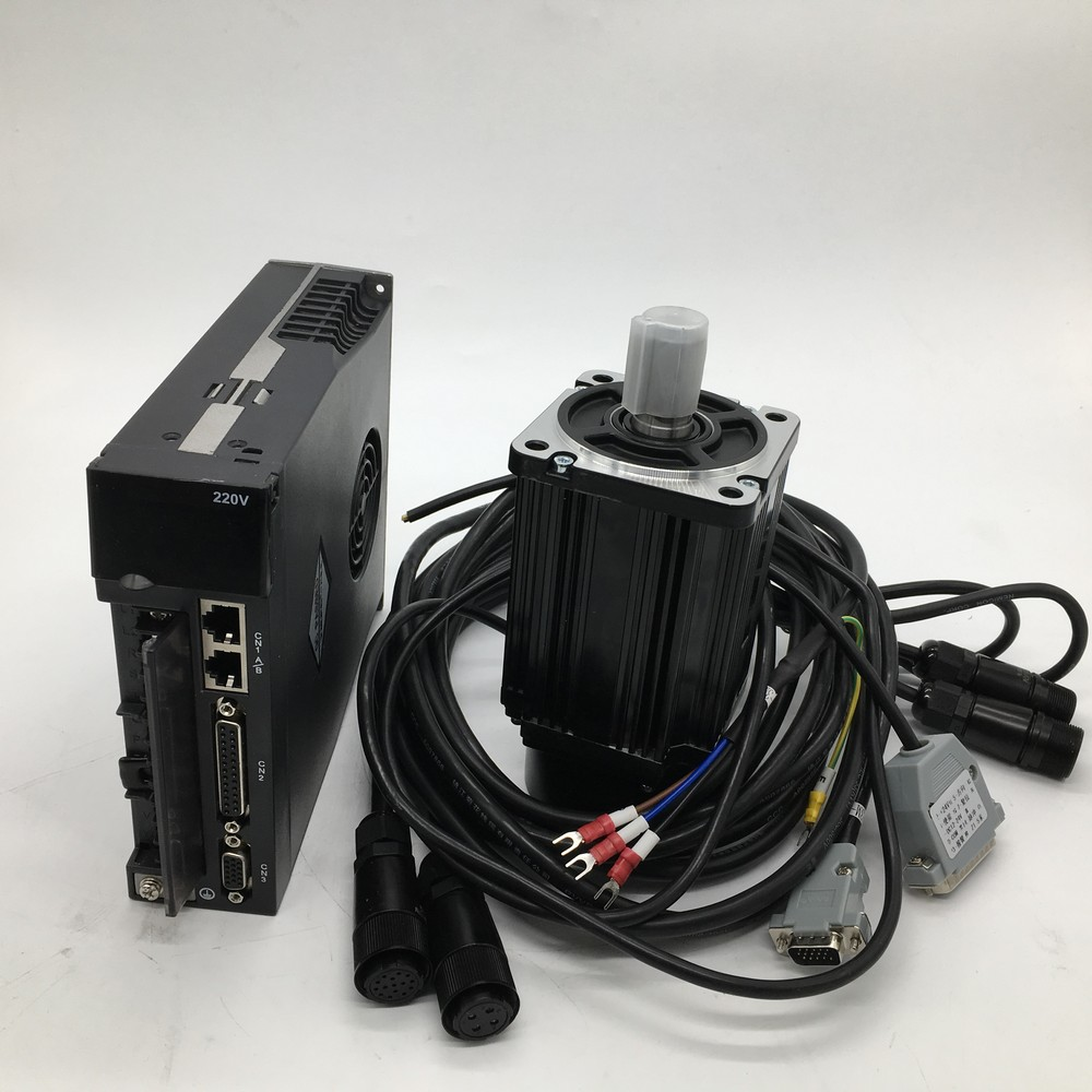 750W AC Servo Motor Drive Kits NEMA32 80mm 220V 3A 2.4Nm 3000r/min 0.75KW Modbus RS485 for CNC