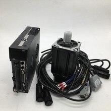 Kits de servomotor de CA de 750W NEMA32 80mm 220V 3A 2.4Nm 3000r/min 0.75KW Modbus RS485 para CNC