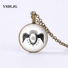 GDRGYB Freemason Necklace - Masonic Memphis Misraim Egypt Rite Winged Egg Kneph Symbol Harajuku Necklaces