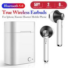 купить Newest Bluetooth 5.0 Earphone Stereo Wireless Headphones Running Sport Bass Headset With Mic For Iphone Xiaomi Huawei Phone дешево