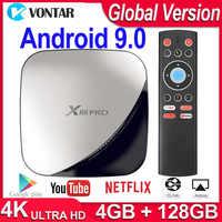 X88 Pro inteligentny zestaw do montażu w zestawie TV Android 9.0 TV Box RK3318 podwójny Wifi 4K 60fps USB3.0 Google Play sklep Netflix Youtube pk A95x R3