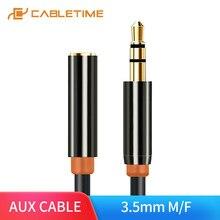 CABLETIME – câble d'extension Audio stéréo M/F AUX, 3.5mm, adaptateur de casque, pour Iphone 6s MP3/MP4 DVD PC Radio 1.8M C098