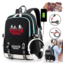 Stranger Things 3 Multifunction USB Charge School Bags Students Boys Girls Rucksack Laptop Backpack for Teenagers Travel Bags