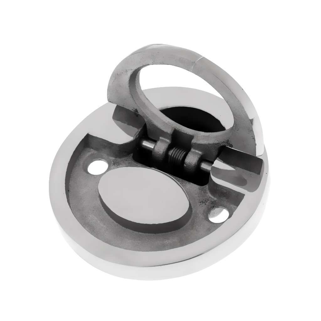 """4x Round 2/"""" Hatch Pull Handle Flush Lifting Ring Marine 316 Stainless Steel"""