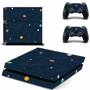 Starry Sky Planet PS4 Stickers Play station 4 Skin PS 4 Sticker Decal Cover For PlayStation 4 PS4 Console & Controller Skins
