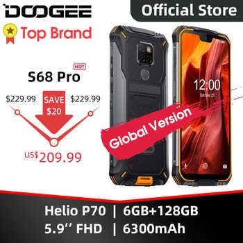 IP68 su geçirmez DOOGEE S68 Pro sağlam telefon kablosuz şarj NFC 6300mAh 12V2A şarj 5.9 inç FHD + Helio P70 octa çekirdek 6GB 128GB