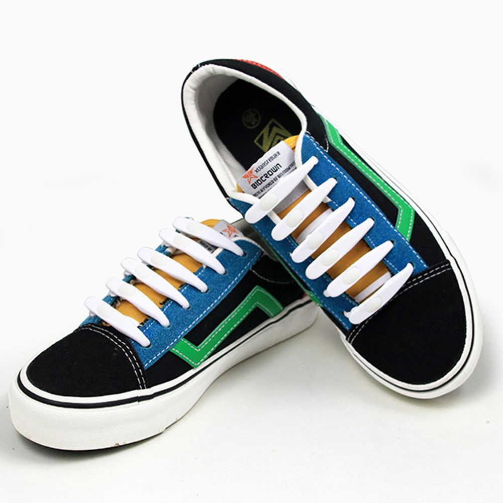 Yeni Varış 1 ADET Su Geçirmez Silikon Ayakabı v-kravat Ayakkabı dantel Emniyet Ayakkabı Aksesuarları Yuvarlak Elastik Hayır Kravat Spor ayakabı