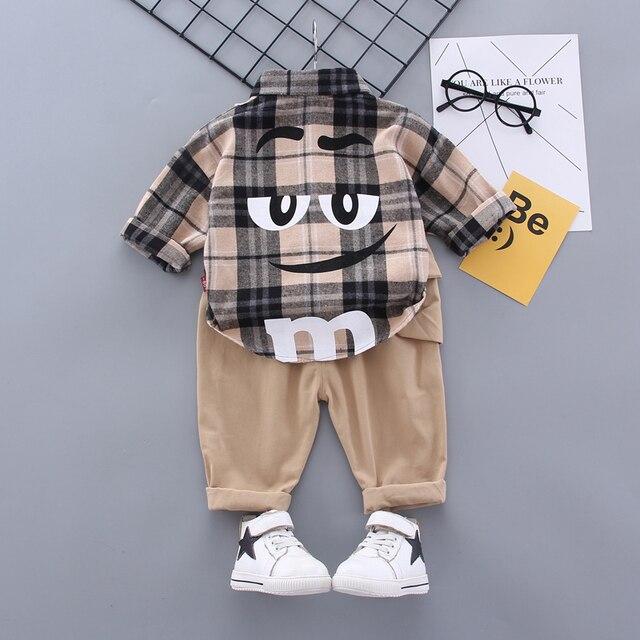 Boy Plaid Khaki Suit 4