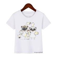 Новая летняя Стильная Детская футболка с забавным рисунком canine
