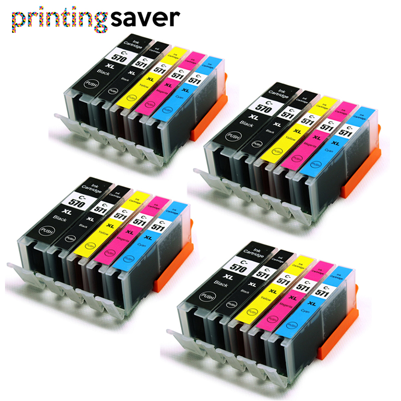 570 571 PGI-570 CLI-571 compatible ink cartridge For canon PIXMA MG5750 MG5751 MG5752 MG6850 MG6851 MG6852 TS6050 <font><b>TS5050</b></font> PGI570 image