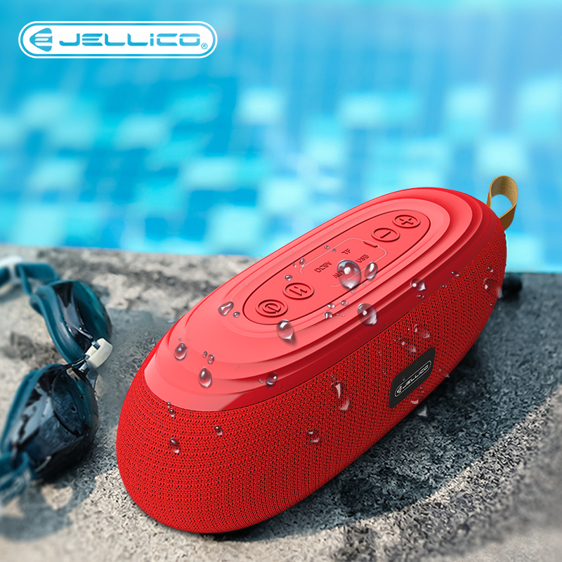 Jellcio Portable Bluetooth Speaker Wireless Bass Column Waterproof Outdoor USB Speakers Support AUX TF Subwoofer Loudspeaker D1 image